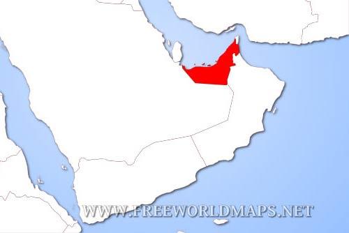 united arab emirates physical map. Black Bedroom Furniture Sets. Home Design Ideas