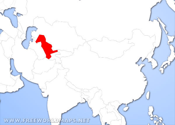 Where is Uzbekistan located on the World map?