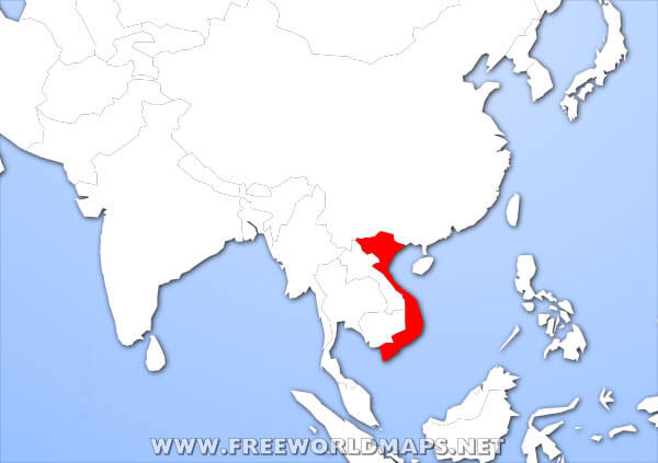 Where is Vietnam located on the World map?