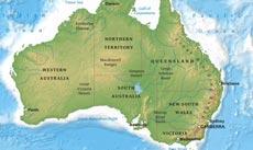 Map Of Australia Political.Australia Political Map
