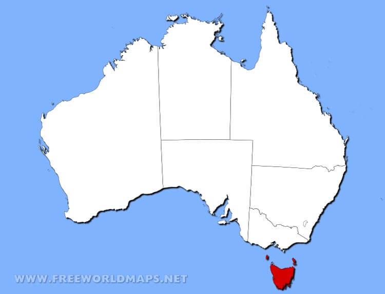 Map Australia Tasmania.Physical Map Of Tasmania Australia