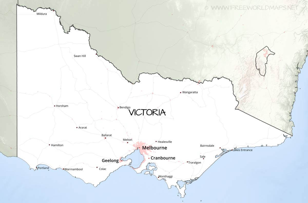 Map Of Victoria Australia With Cities.Victoria Maps