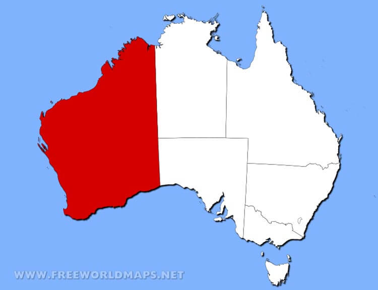Australia Location Map.Physical Map Of Western Australia Australia