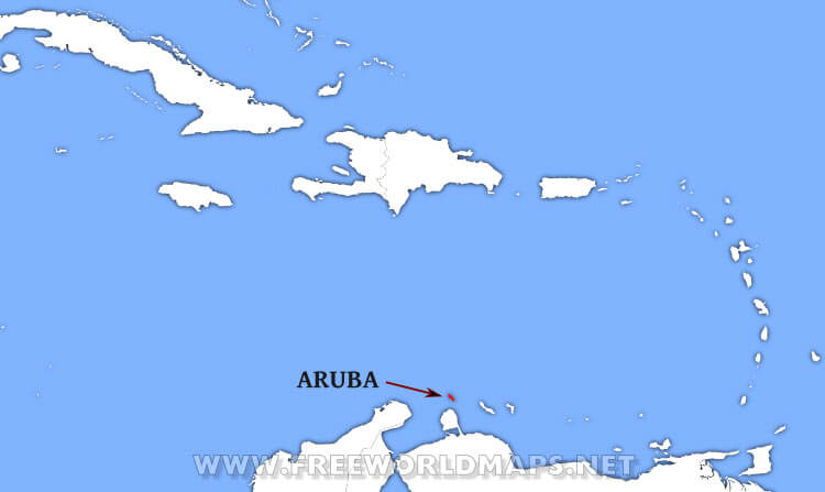 Where is Aruba located on the World map?