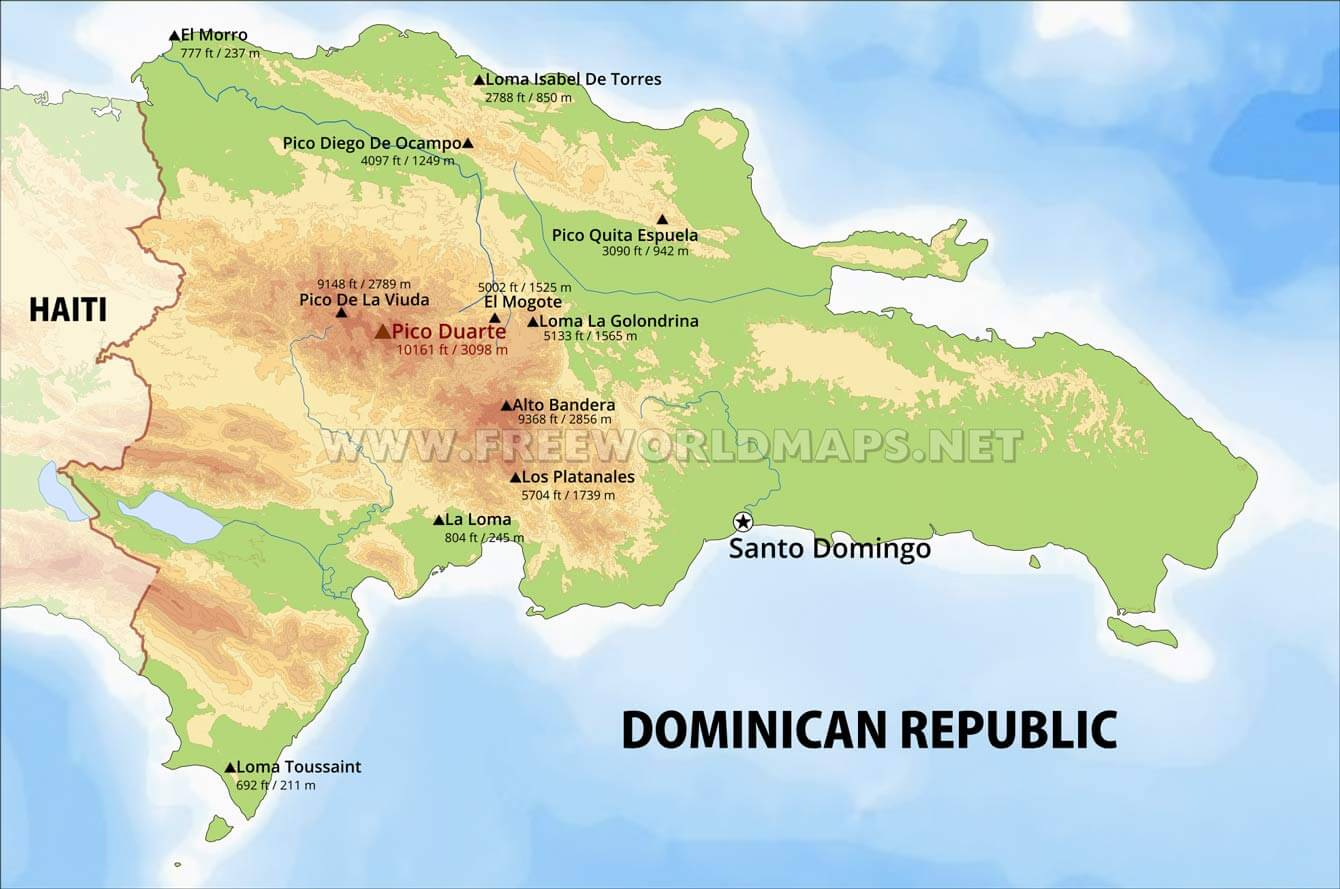 Picture of: Dominican Republic Physical Map