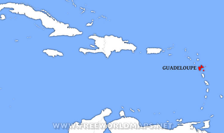 where is guadeloupe located on the world map