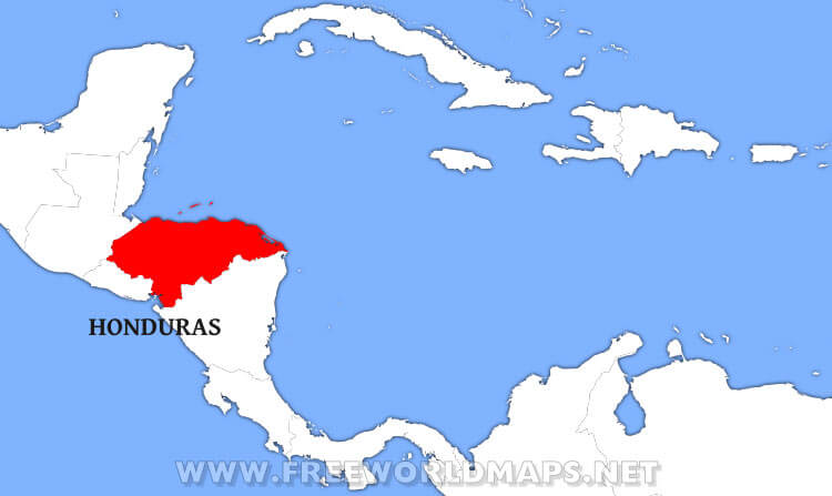 Where is Honduras located on the World map?