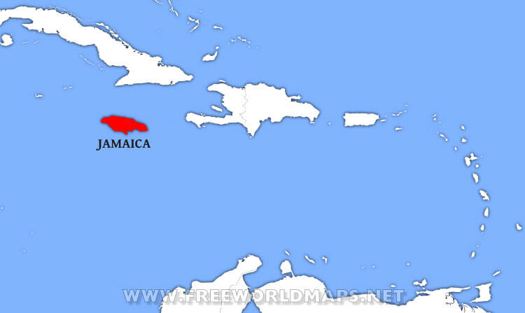 Where is Jamaica located on the World map?