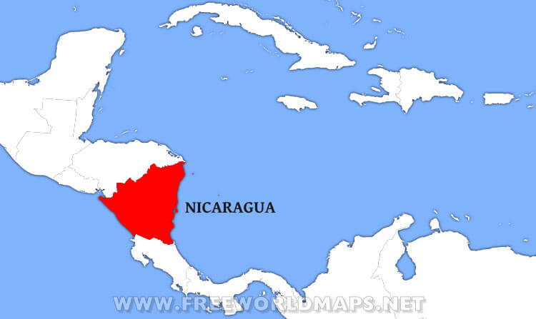 Where is Nicaragua located on the World map?