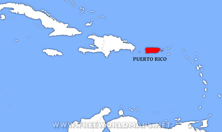 World Map Puerto Rico Where is Puerto Rico located on the World map?