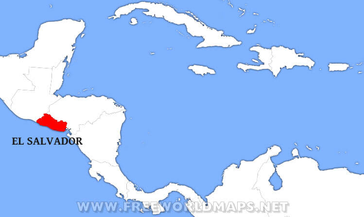 Where is Salvador located on the World map?