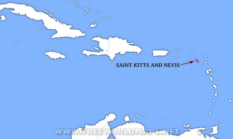 Where is Saint Kitts and Nevis located on the World map?