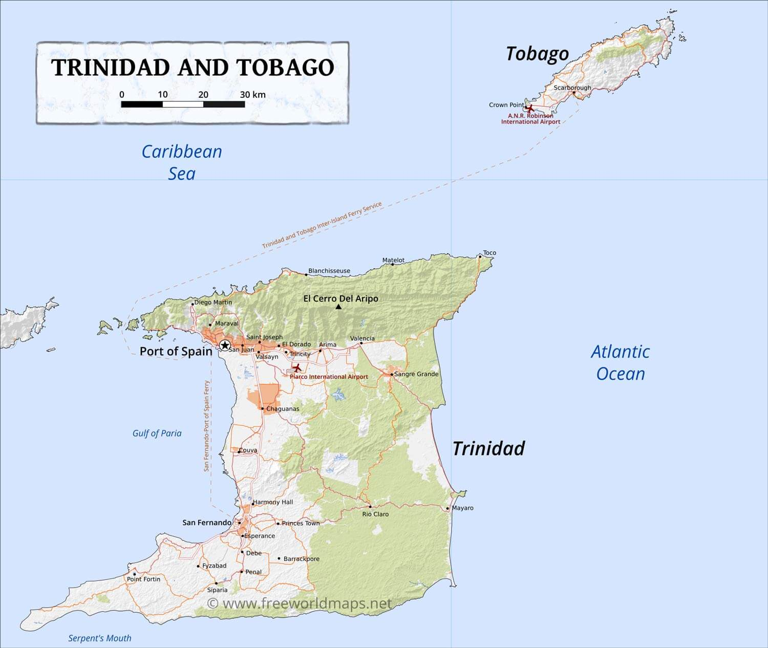 Central America And The Caribbean Islands Physical Map