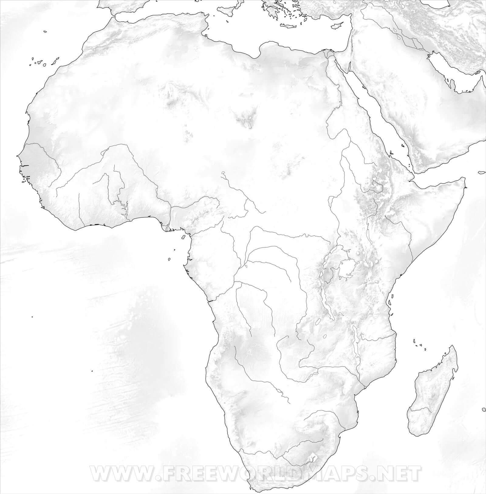 Stumme Karte Afrika.Karte Von Afrika Freeworldmaps Net