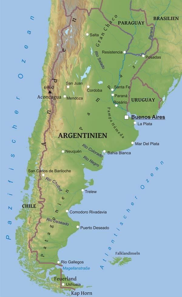 karte von argentinien freeworldmapsnet