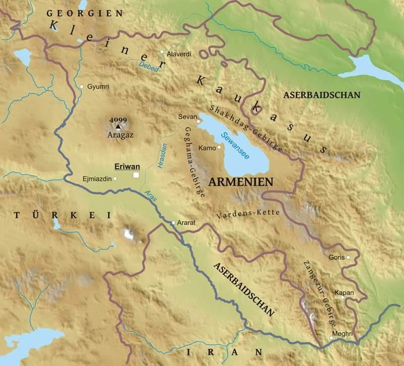 Karte Von Armenien Freeworldmaps Net