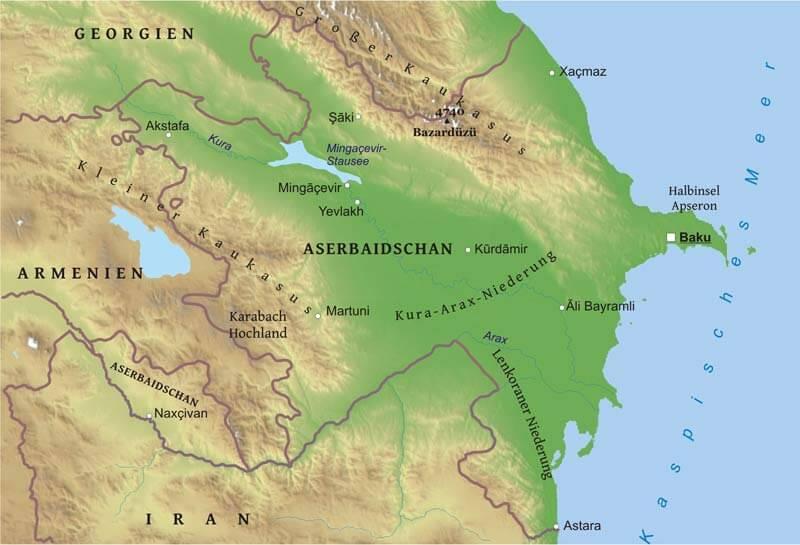 Baku Aserbaidschan Karte.Karte Von Aserbaidschan Freeworldmaps Net