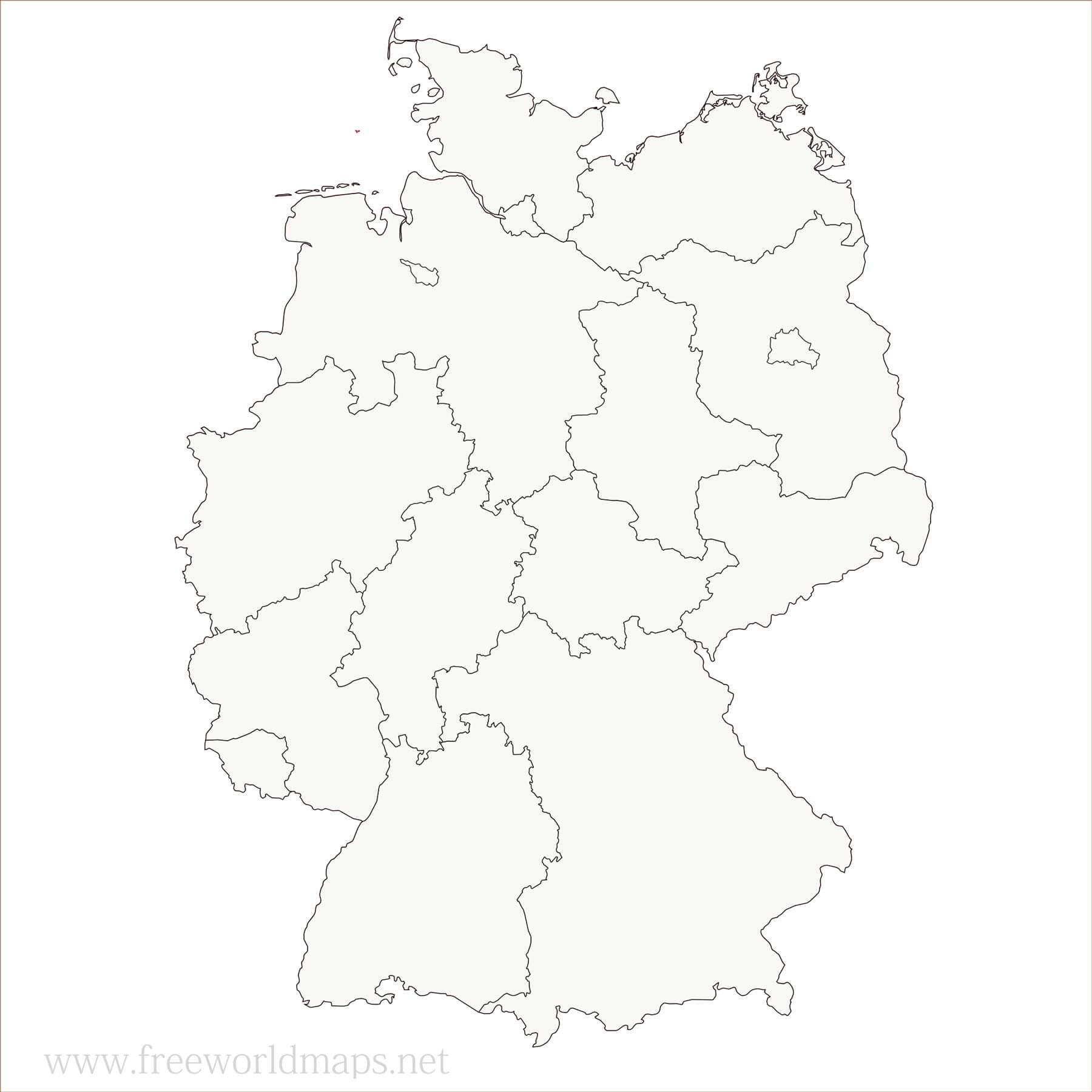Länder deutschland angrenzende stumme karte Deutschland