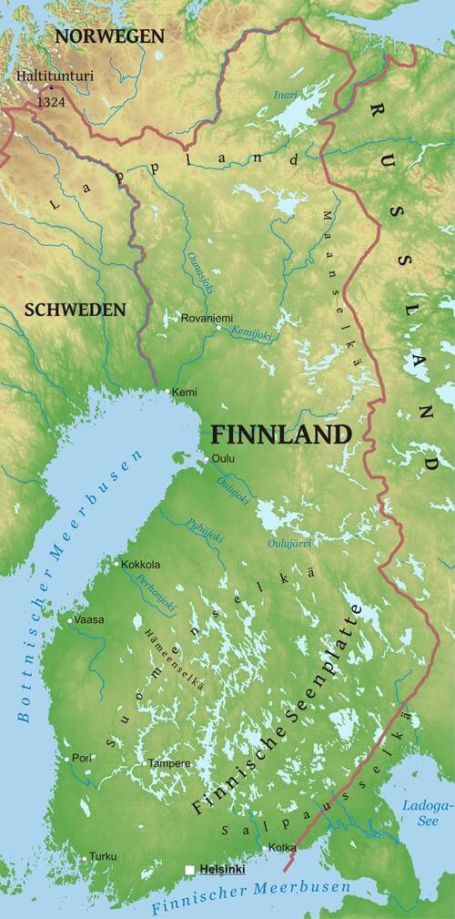 Karte Von Finnland Freeworldmaps Net