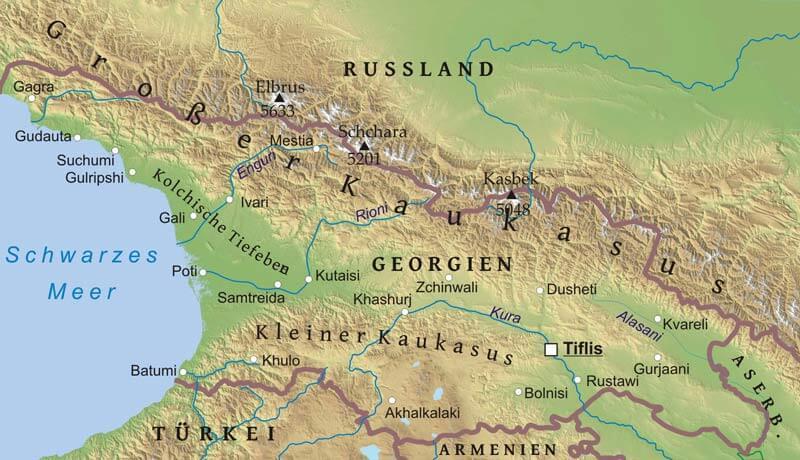 Karte Von Georgien Freeworldmaps Net