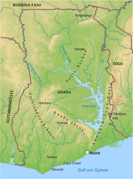 Ghana Karte.Karte Von Ghana Freeworldmaps Net