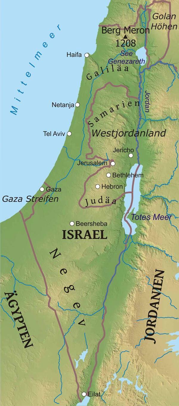 Israel Karte.Karte Von Israel Freeworldmaps Net