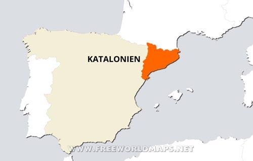 Spanien Katalonien Karte.Katalonien Karte Freeworldmaps Net