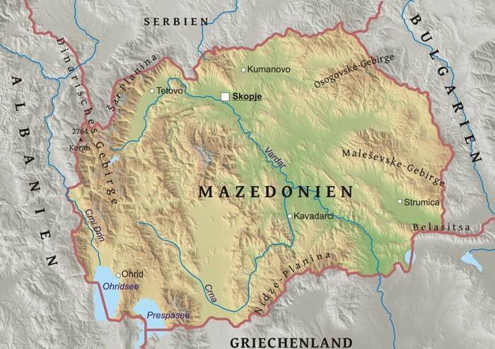 Mazedonien Karte.Karte Von Mazedonien Freeworldmaps Net