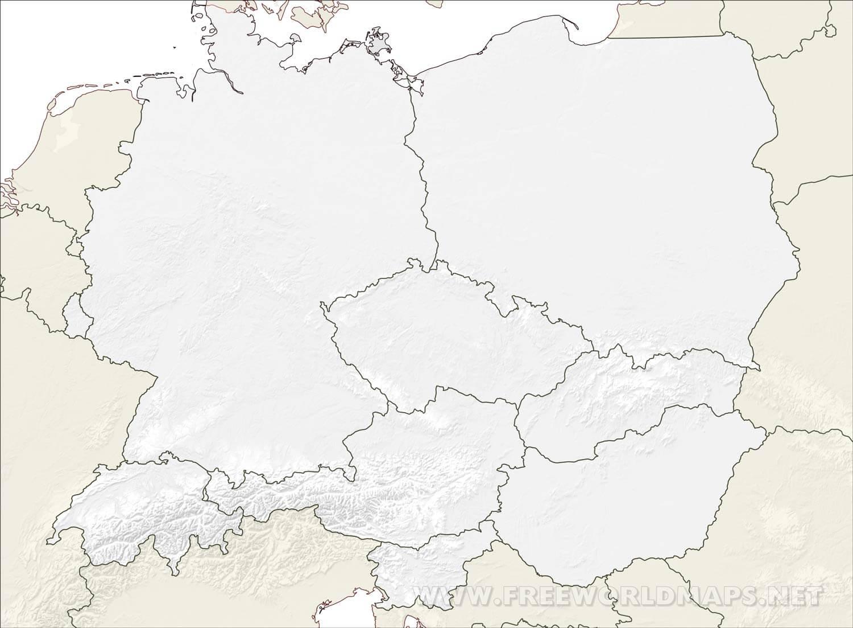 zentraleuropa karte Mitteleuropa Karte   Freeworldmaps.net zentraleuropa karte
