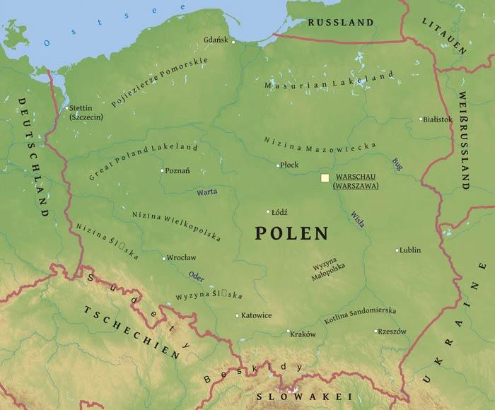 Polen Karte.Karte Von Polen Freeworldmaps Net