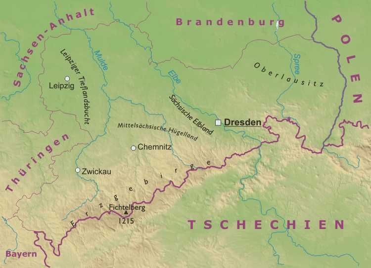 Leipzig Karte Sachsen.Sachsen Karte Freeworldmaps Net