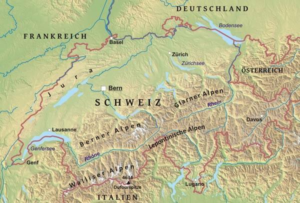 Bodensee Karte Schweiz.Karte Von Schweiz Freeworldmaps Net