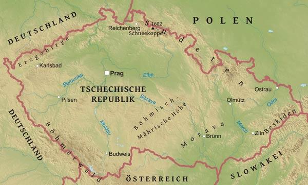 Karte Von Tschechien Freeworldmaps Net