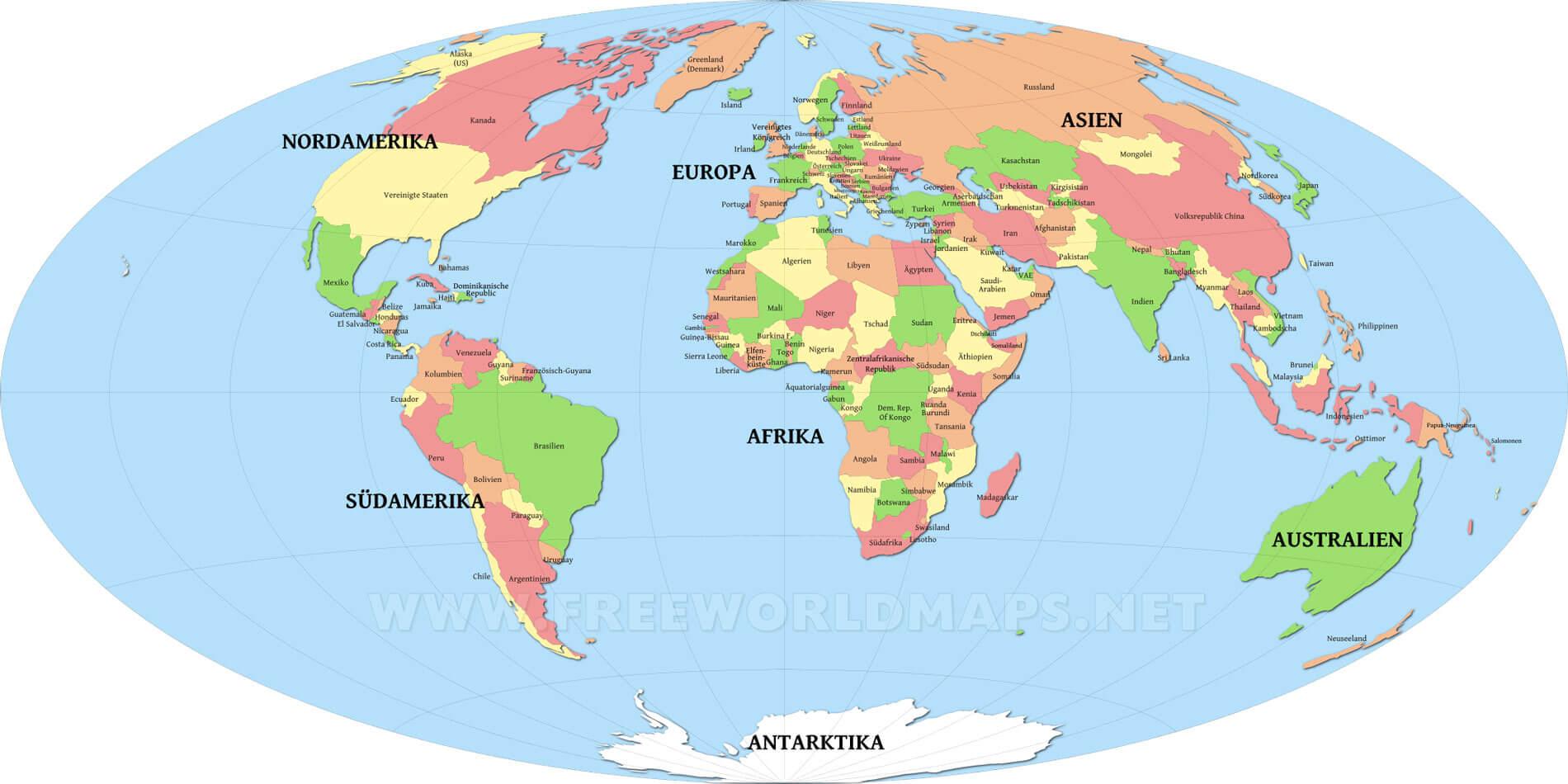 weltkarte staaten Weltkarten kostenlos   Freeworldmaps.net weltkarte staaten