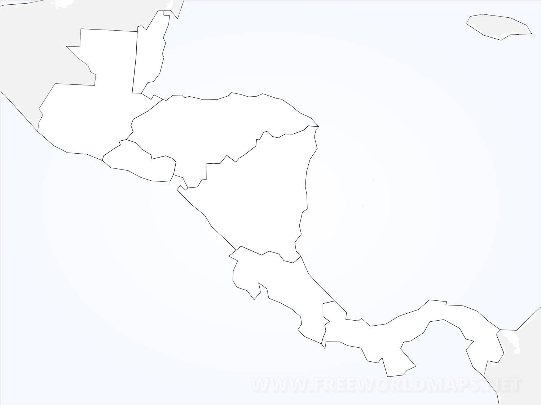 Stumme Karte Nordamerika.Zentralamerika Karte Freeworldmaps Net