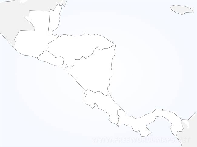 Stumme Karte.Zentralamerika Karte Freeworldmaps Net