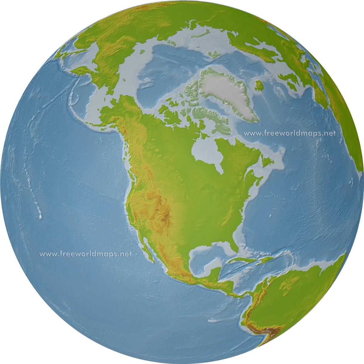 Download Free North America Maps