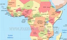 Desierto De Kalahari Mapa.Mapa Fisico De Africa