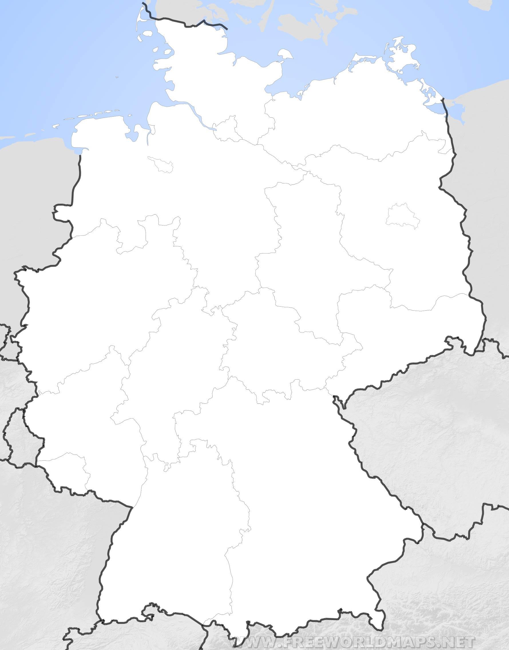 Mapa De Alemania Politico.Mapa De Alemania