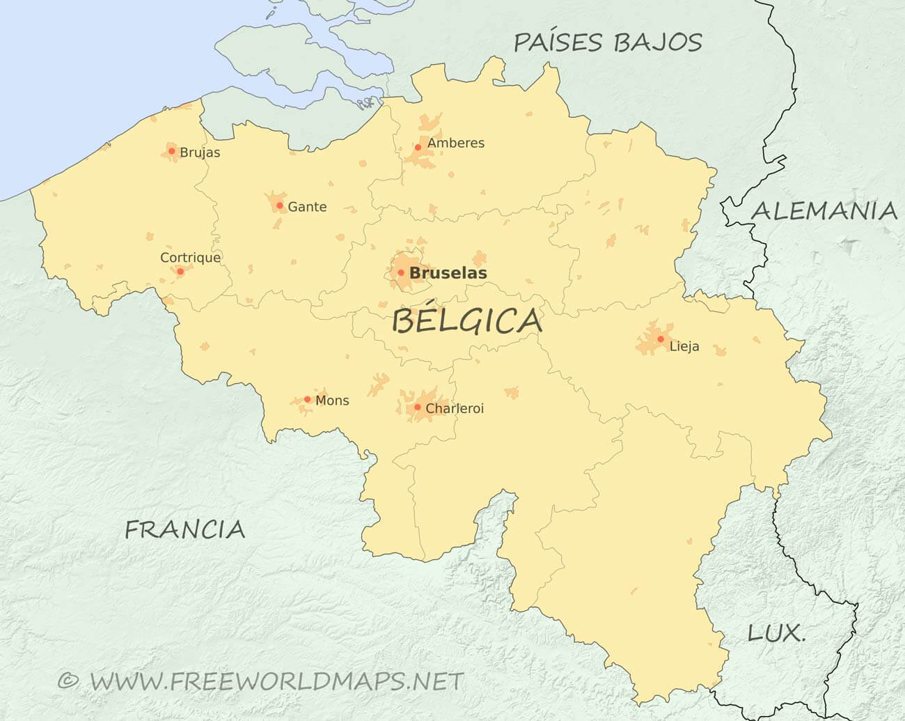 Mapa De Belgica