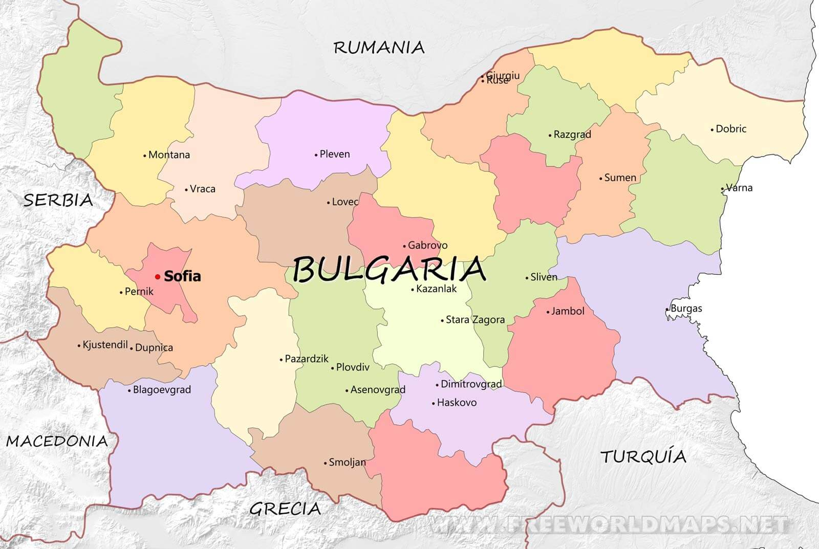 bulgaria mapa Mapa de Bulgaria bulgaria mapa