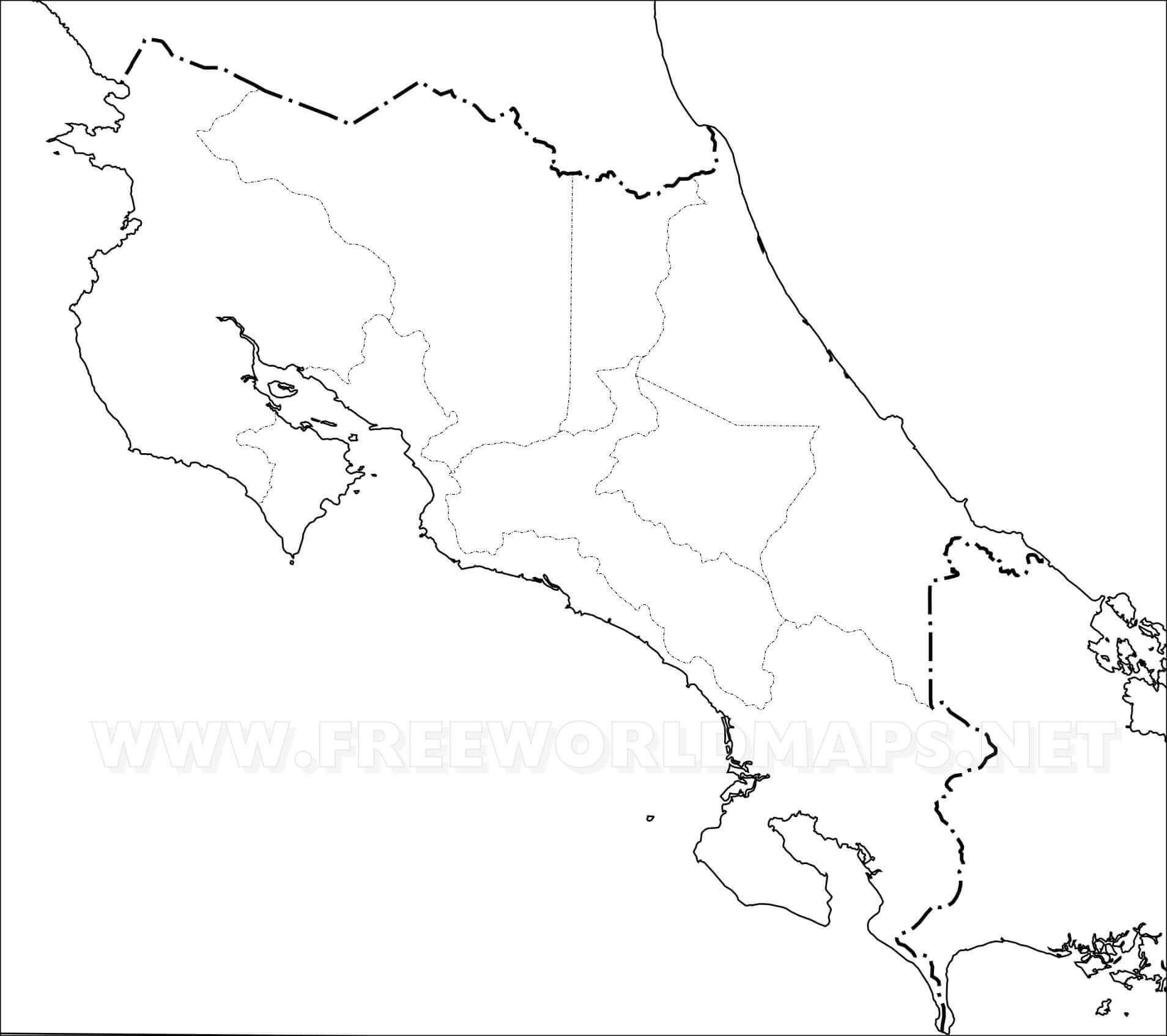 Mapa Físico De Costa Rica Geografía De Costa Rica