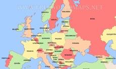 Mapa Europa En Español.Mapa Fisico De Europa