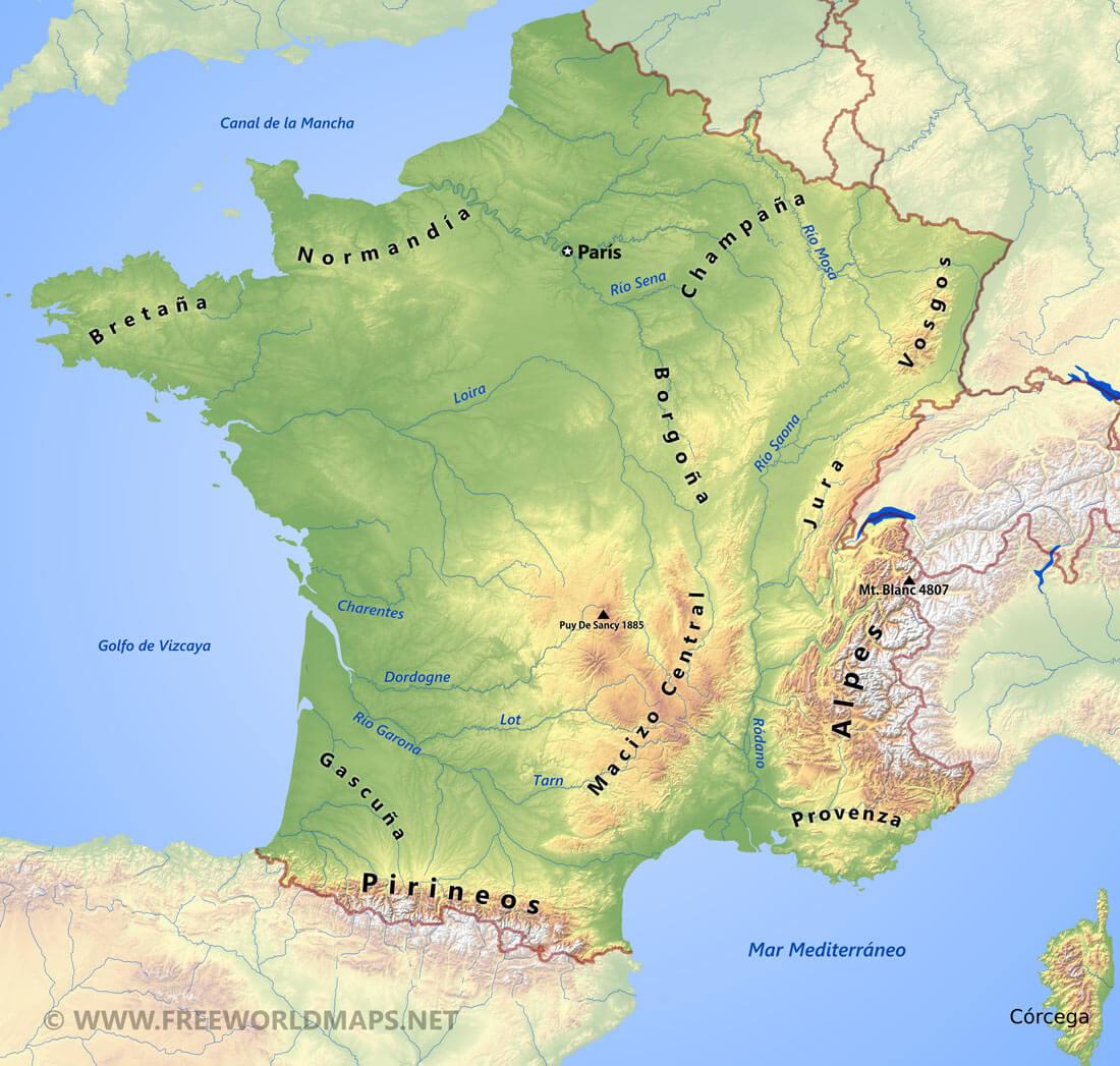 Mapa Politico De Francia 2019.Mapa De Francia