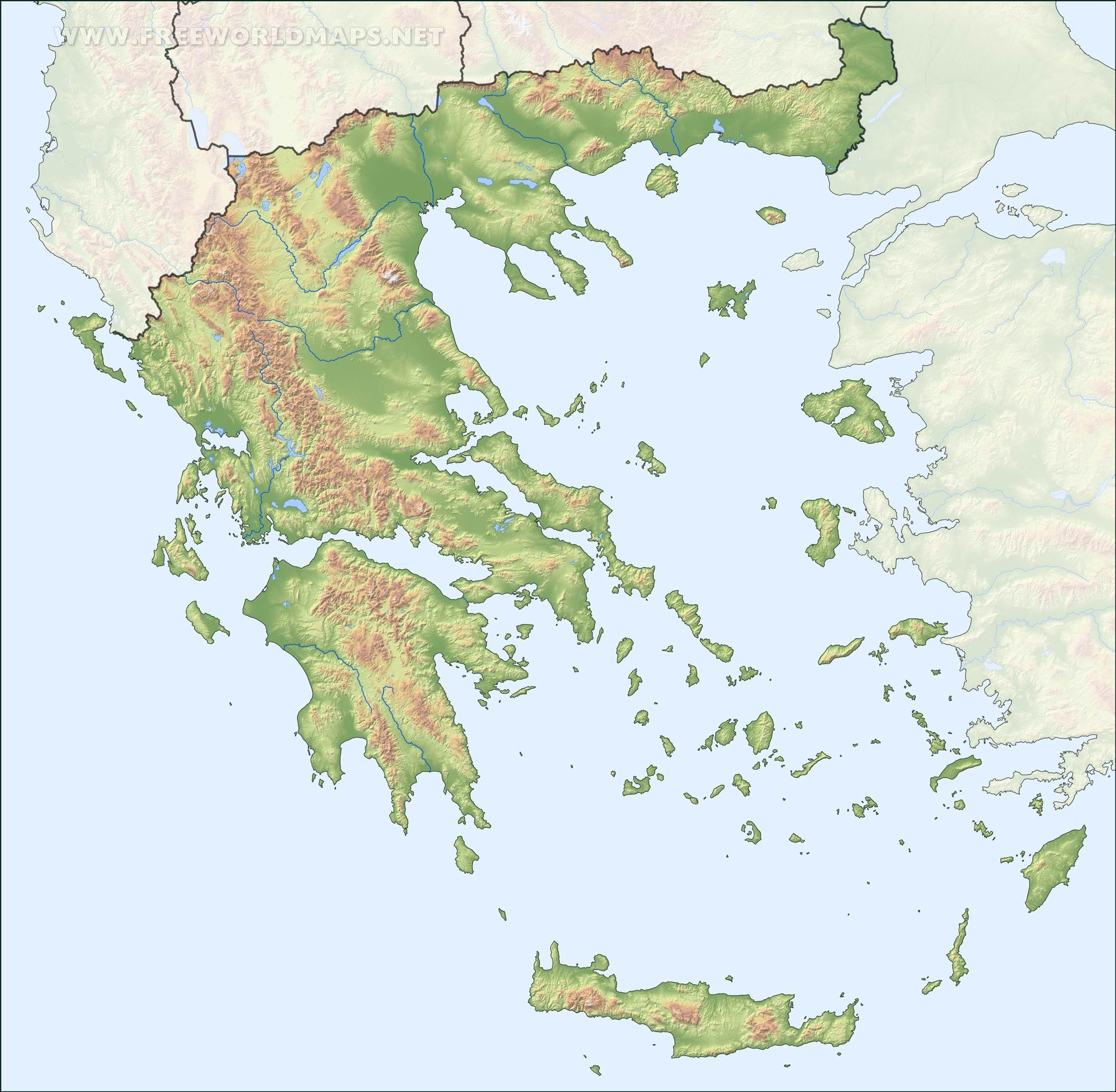 Mapa Politico De Grecia.Mapa De Grecia