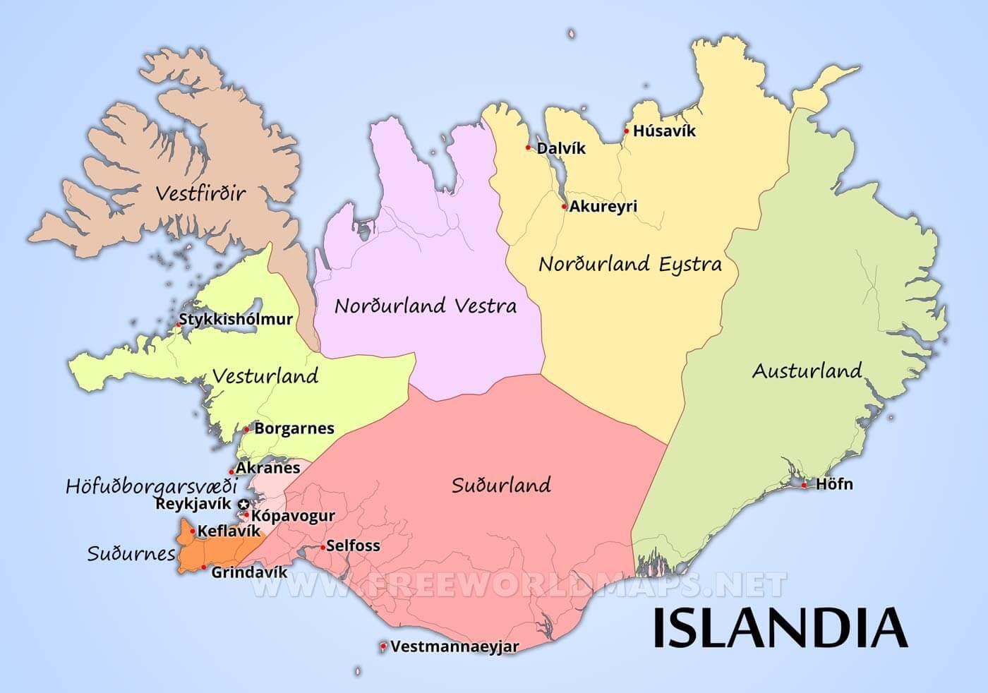 islandia mapa Mapa de Islandia islandia mapa