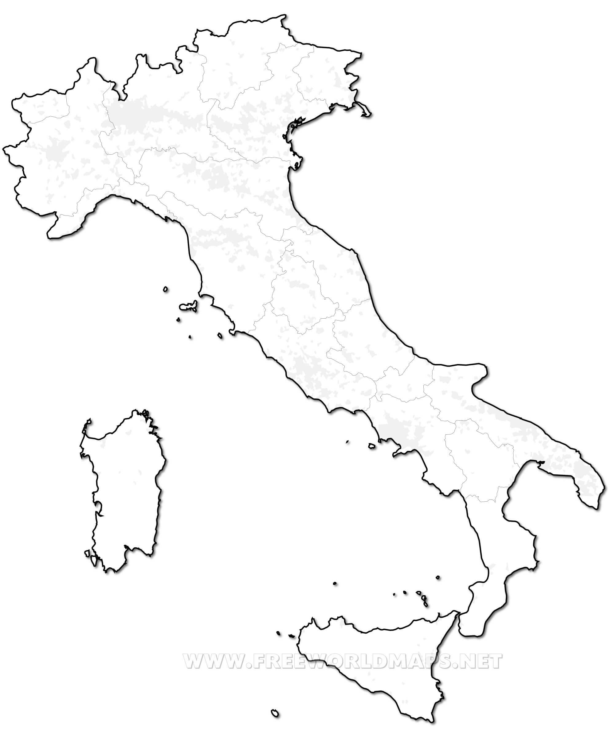 Mapa De Italia Mudo.Mapa De Italia