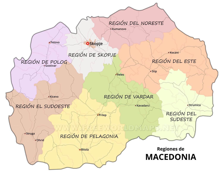 mapa da macedonia Mapa de Macedonia mapa da macedonia