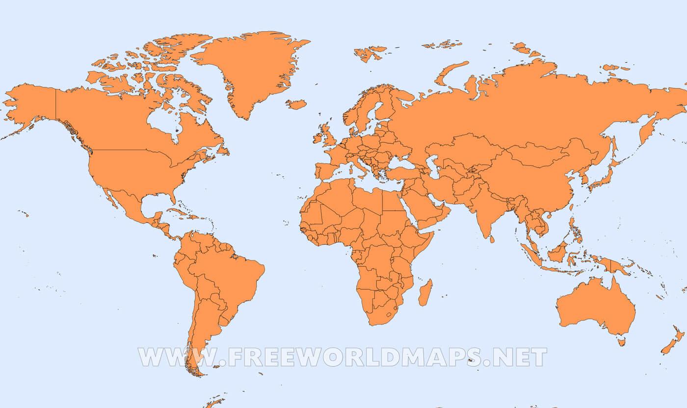 Mapa Del Mundo Paises Para Imprimir.Mapa Politico Del Mundo Freeworldmaps Net