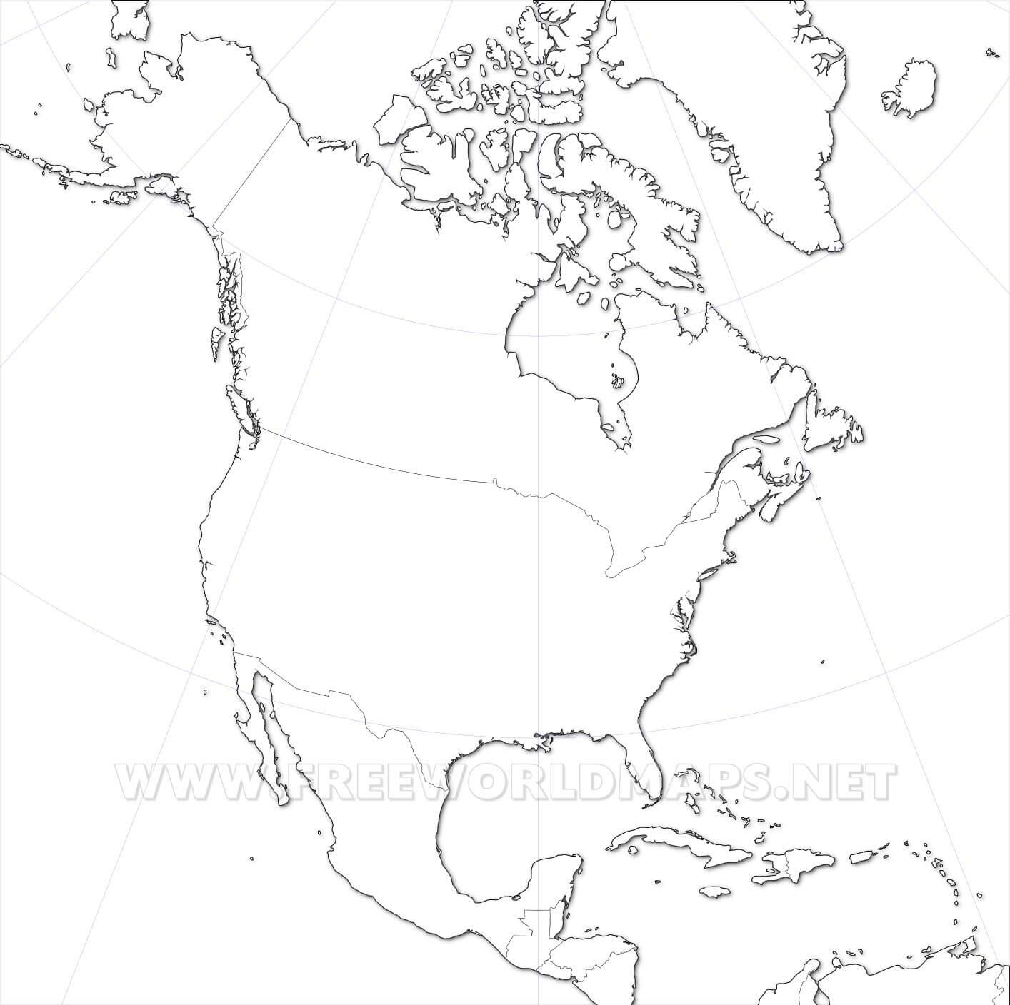 Mapa De América Del Norte Más De 250 Imágenes Para